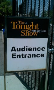 The Tonight Show with Jay Leno taping 4/2/12
